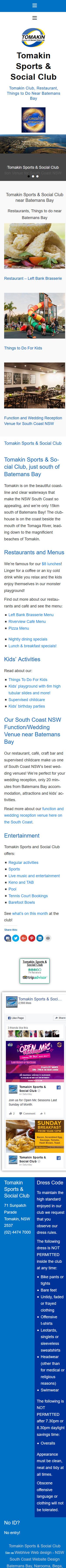 Tomakin Club near Batemans Bay