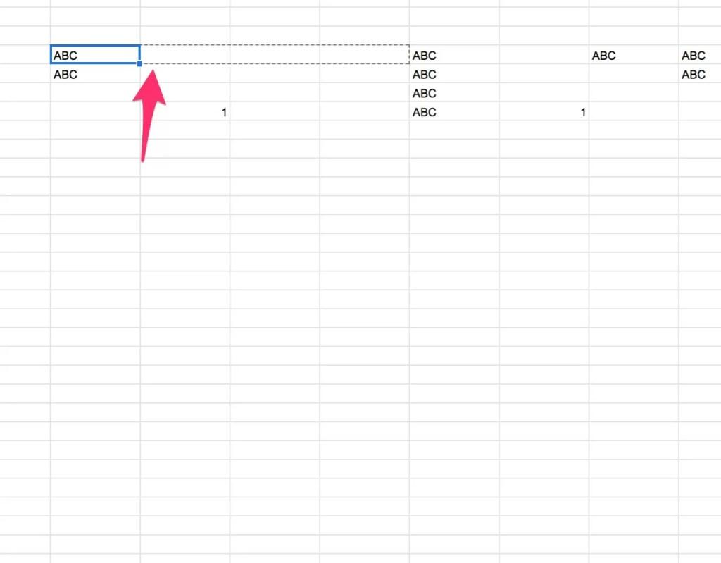 Googleシート(Googleスプレッドシート)行の文字コピー一括入力