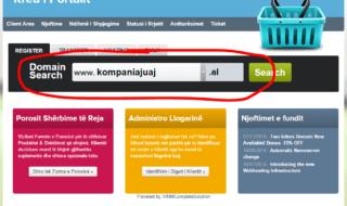 1.Kontrolloni zgjidhni domain-in qe deshironi