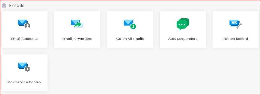hpanel email section