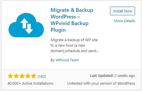 WPvivid: Backup Plugin for WordPress