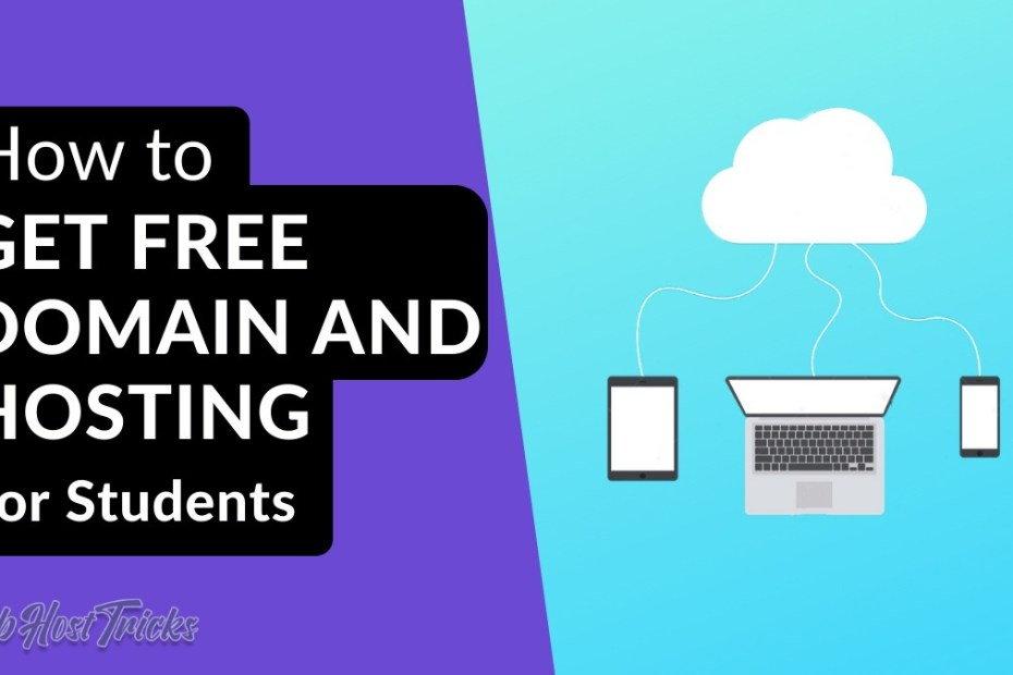 How to get Free Domain and Hosting for Students