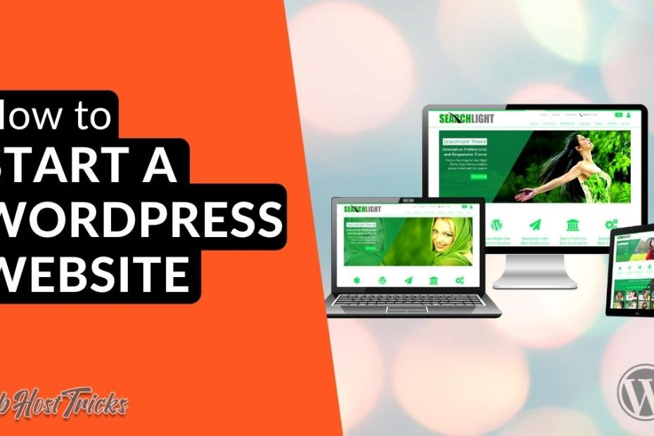 Start a WordPress website
