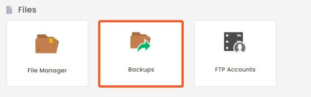 backups in Hostinger
