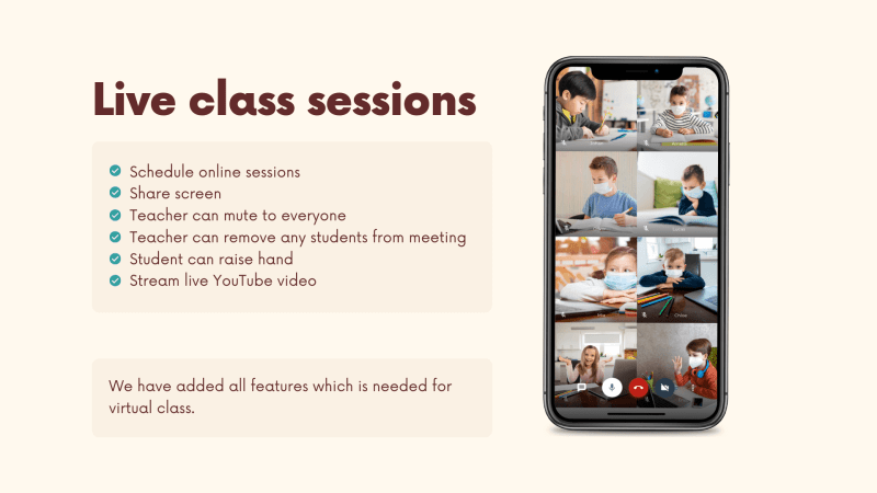 vClass Lite - Virtual Online Live Classroom Android App - 4