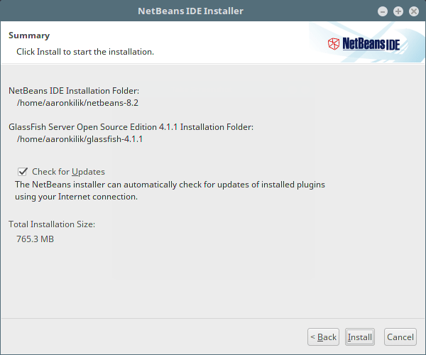 Enable NetBeans IDE Updates