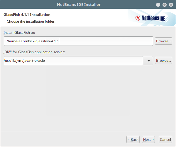 GlassFish Installation Folder
