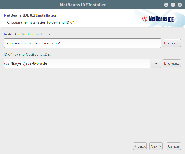 NetBeans IDE Installation Folder