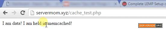 memcached test success