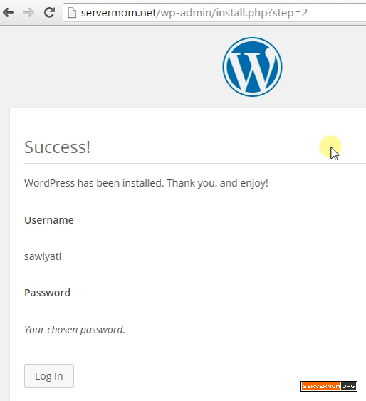 Finishing WP Install