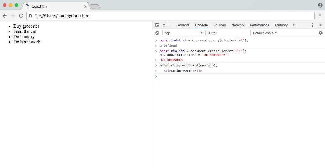 DOM Screenshot 2