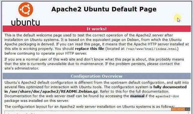 Apache Ubuntu Default Page