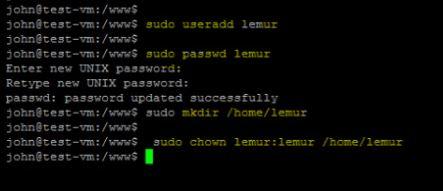Add a user for lemur