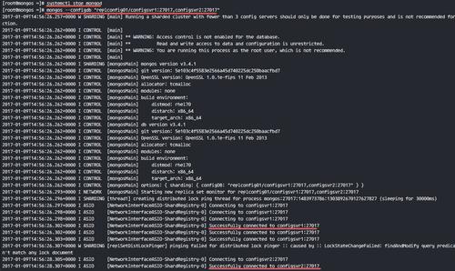 Configure mongos/Query Router