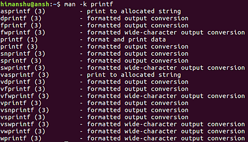 How to make man search considering input as regular expression