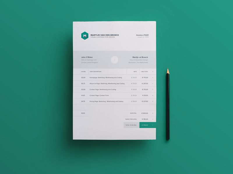 Modern Beautiful Free Invoice Templates for Creatives