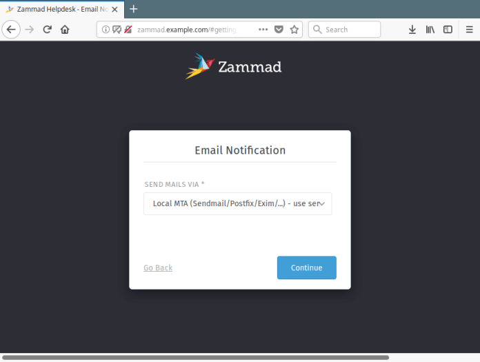 Set Zammad Email Notification