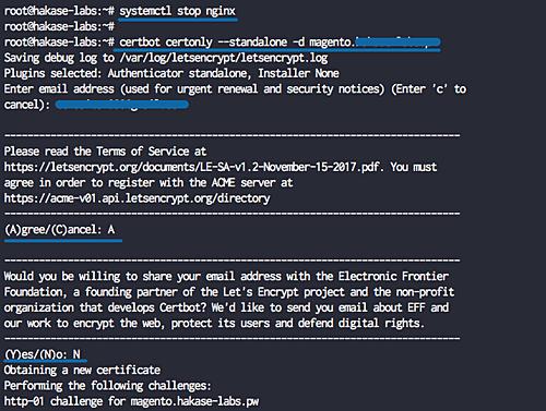 Enable Let's encrypt SSL certificate