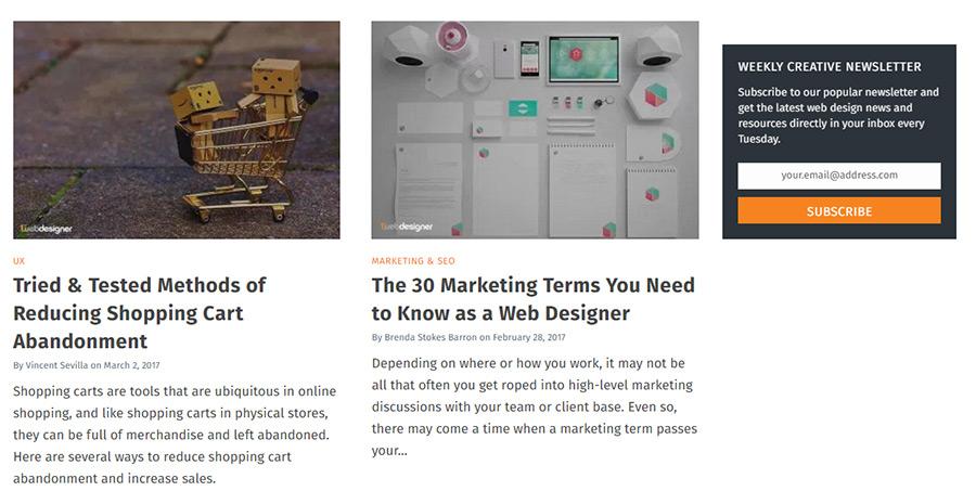 1stwebdesigner newsletter
