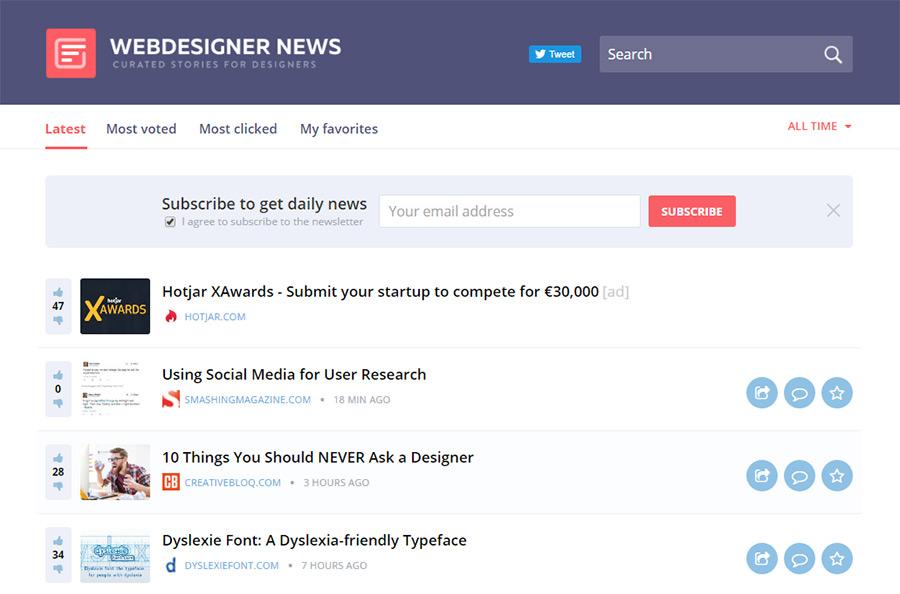 webdesigner newsletter