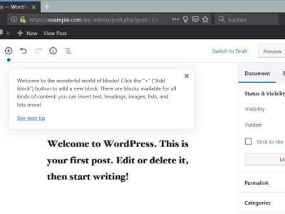 Install WordPress 5 with Apache on Debian 9
