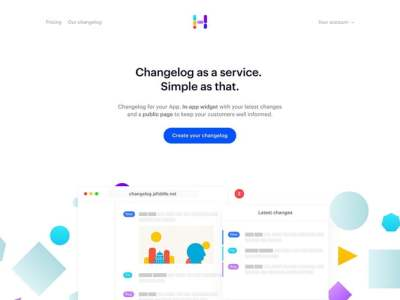 Simple Hero Web Design Examples in Landing Pages