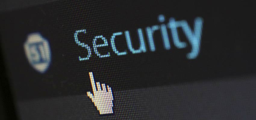 Security menu item within WordPress.