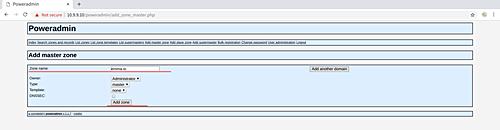 Add DNS Zone in PowerAdmin