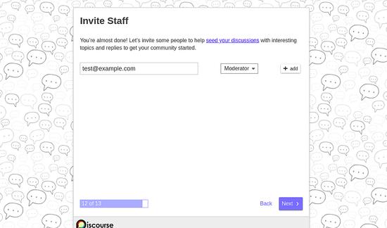 Invite Staff