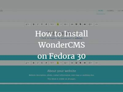 How to Install WonderCMS on Fedora 30