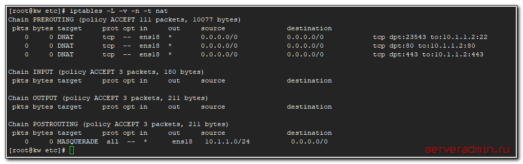 Port forwarding to lxc container