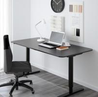 Ikea Schreibtisch, schwarz höhenverstellbar in 10319 ...