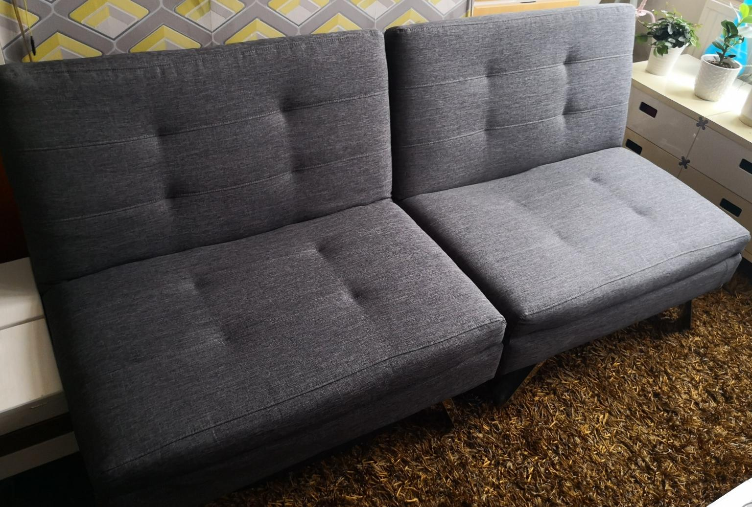 argos home duo 2 seater clic clac sofa bed