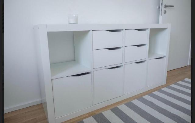 IKEA Kallax Regal mit Türen *weiss* in 60318 Frankfurt am ...