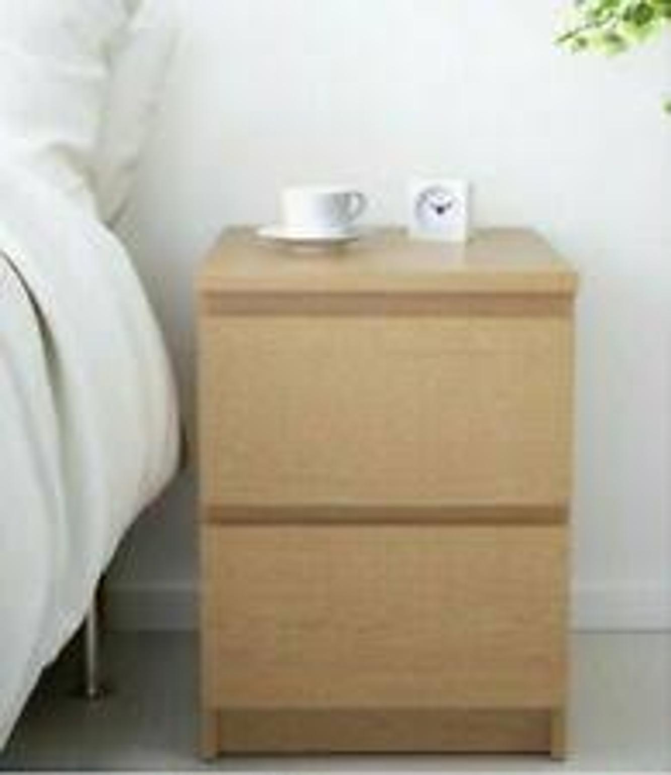 Ikea Malm Chest Of 2 Drawers Bedside Table