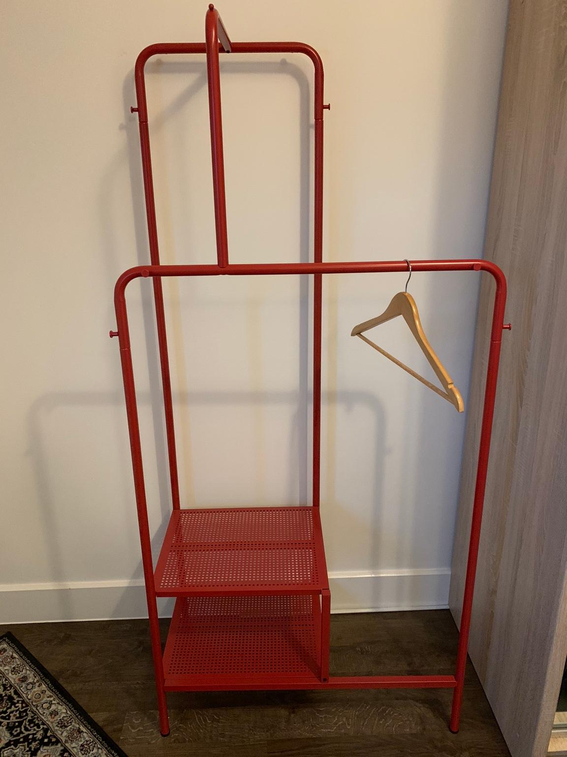 ikea nikkeby clothes rack red