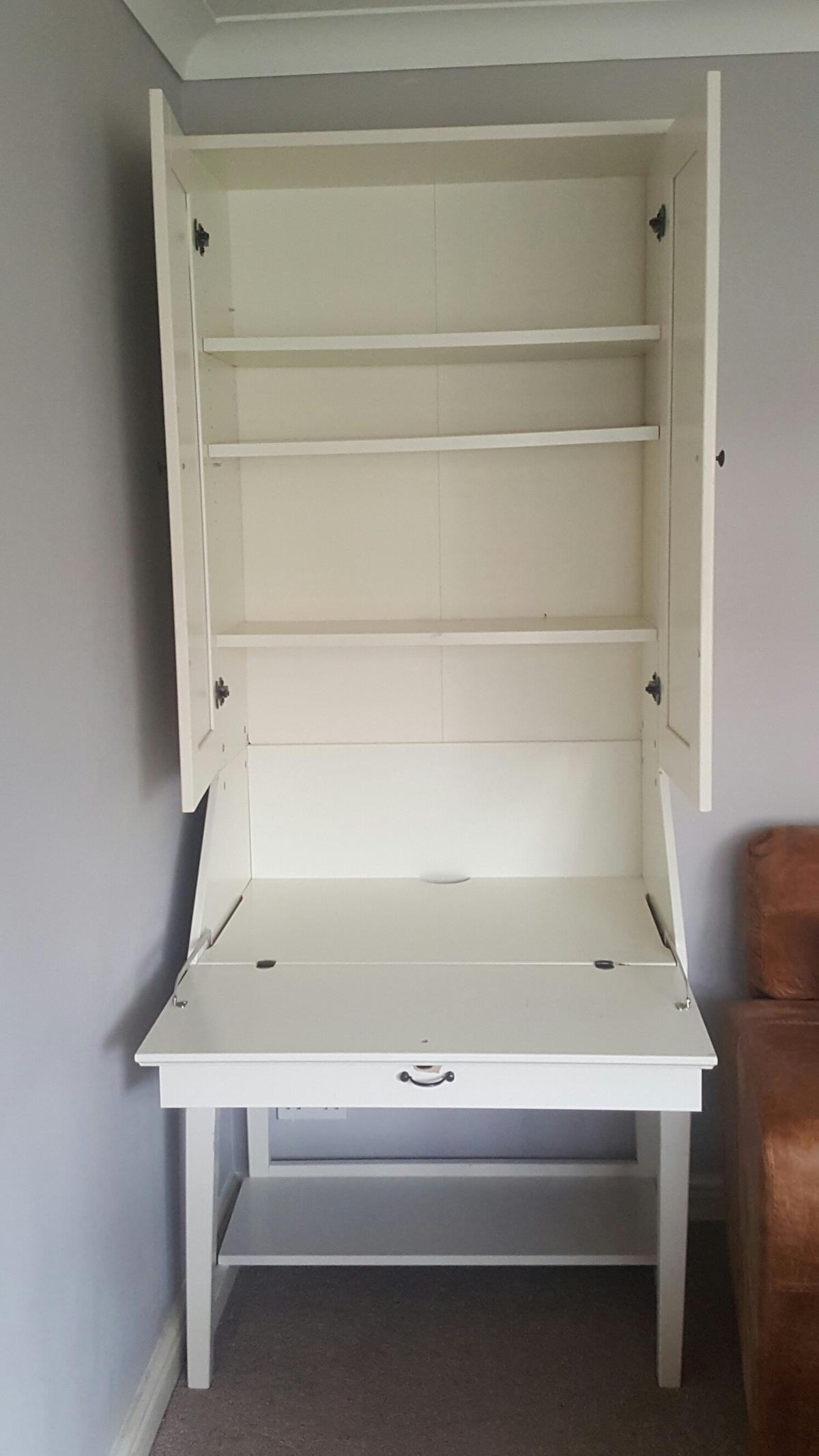 ikea alve white desk bureau cabinet