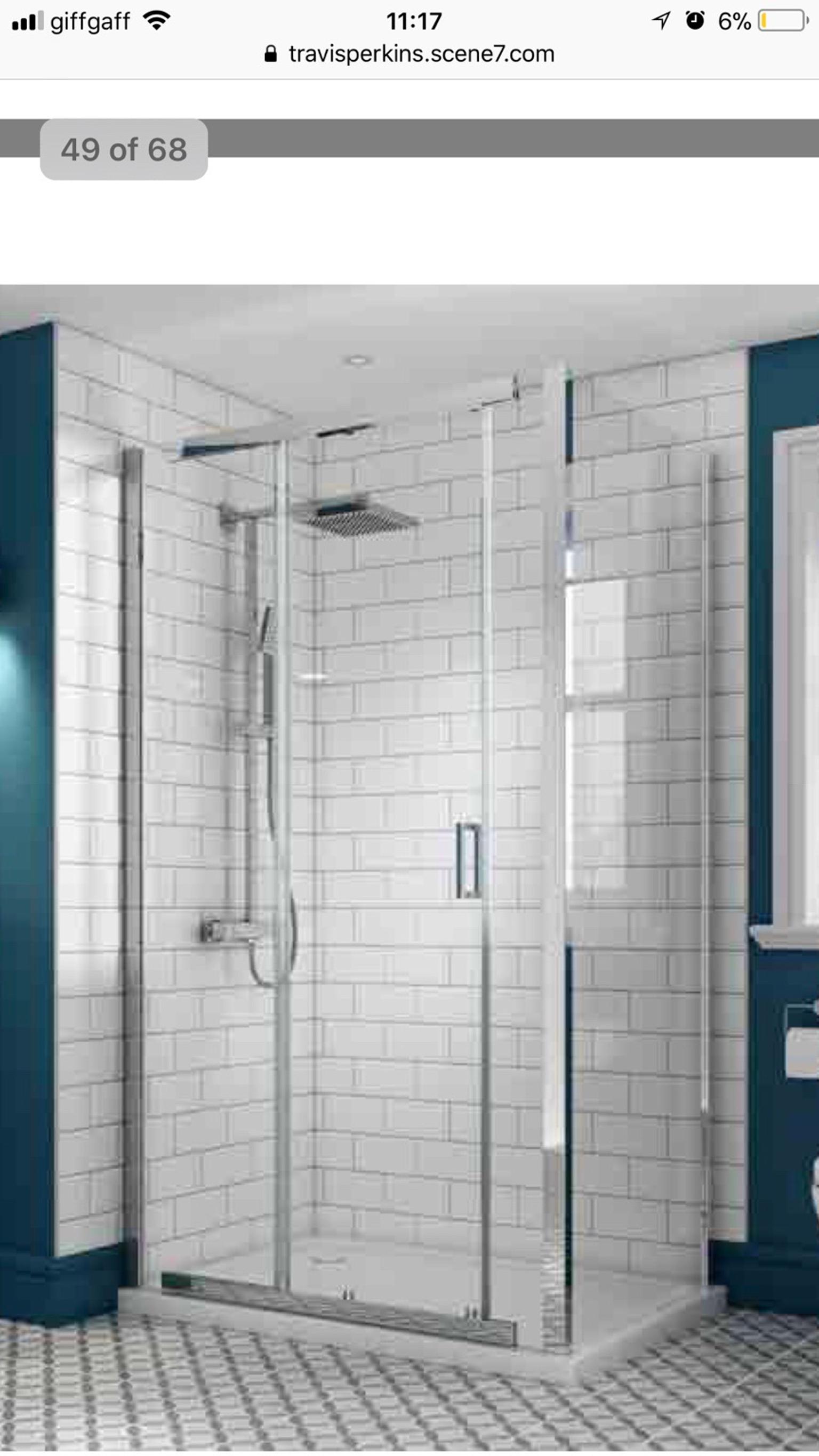 Wickes Semi Frameless Shower Enclosure New