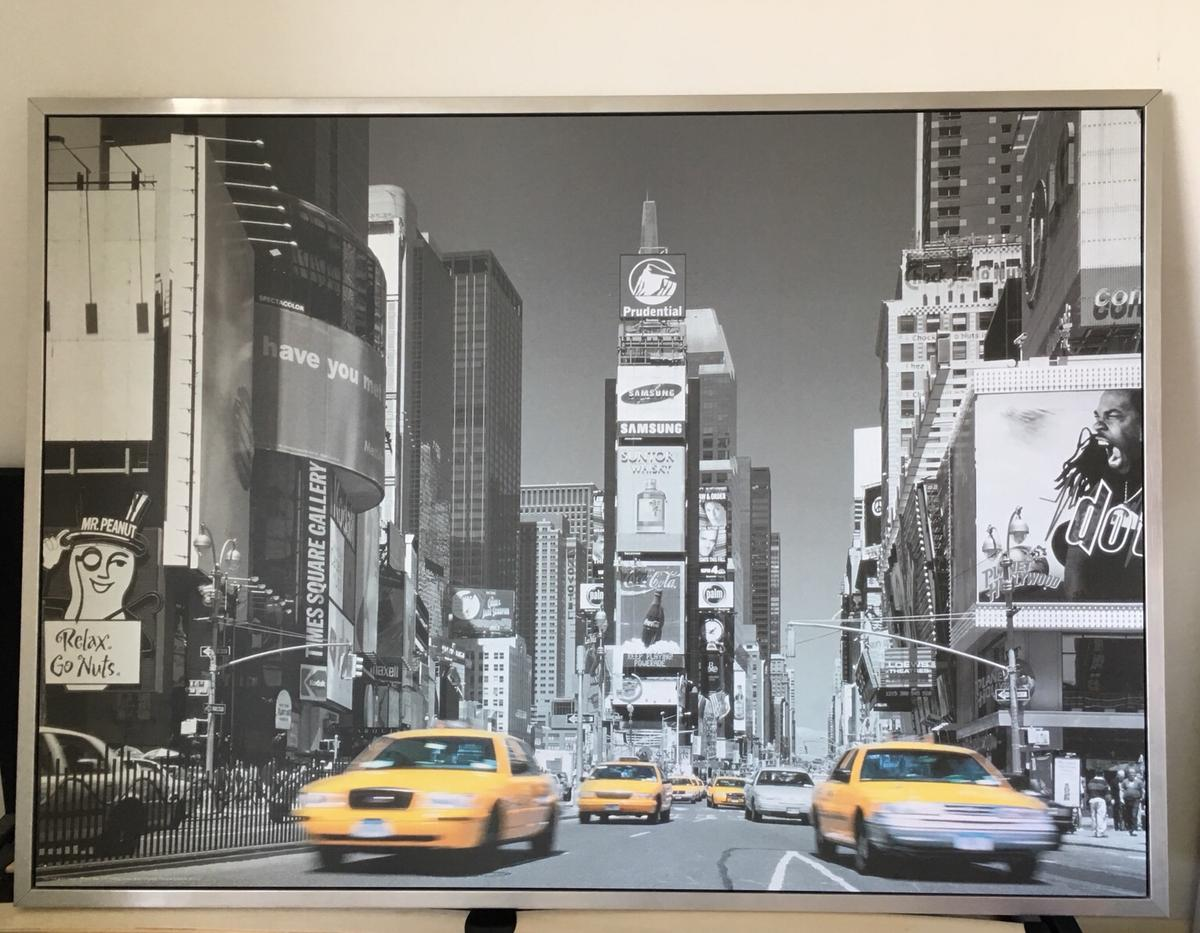 ikea new york times square wall art in