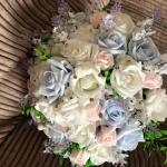 Wedding Posy Bouquet Package Lavender White Roses Pink And Light Blue