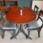 Shabby Chic Dining Dinner Table And Chairs In Le18 Blaby For 50 00 For Sale Shpock