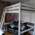 Ikea White Wood Double Loft Bed In Se15 London For 150 00 For Sale Shpock
