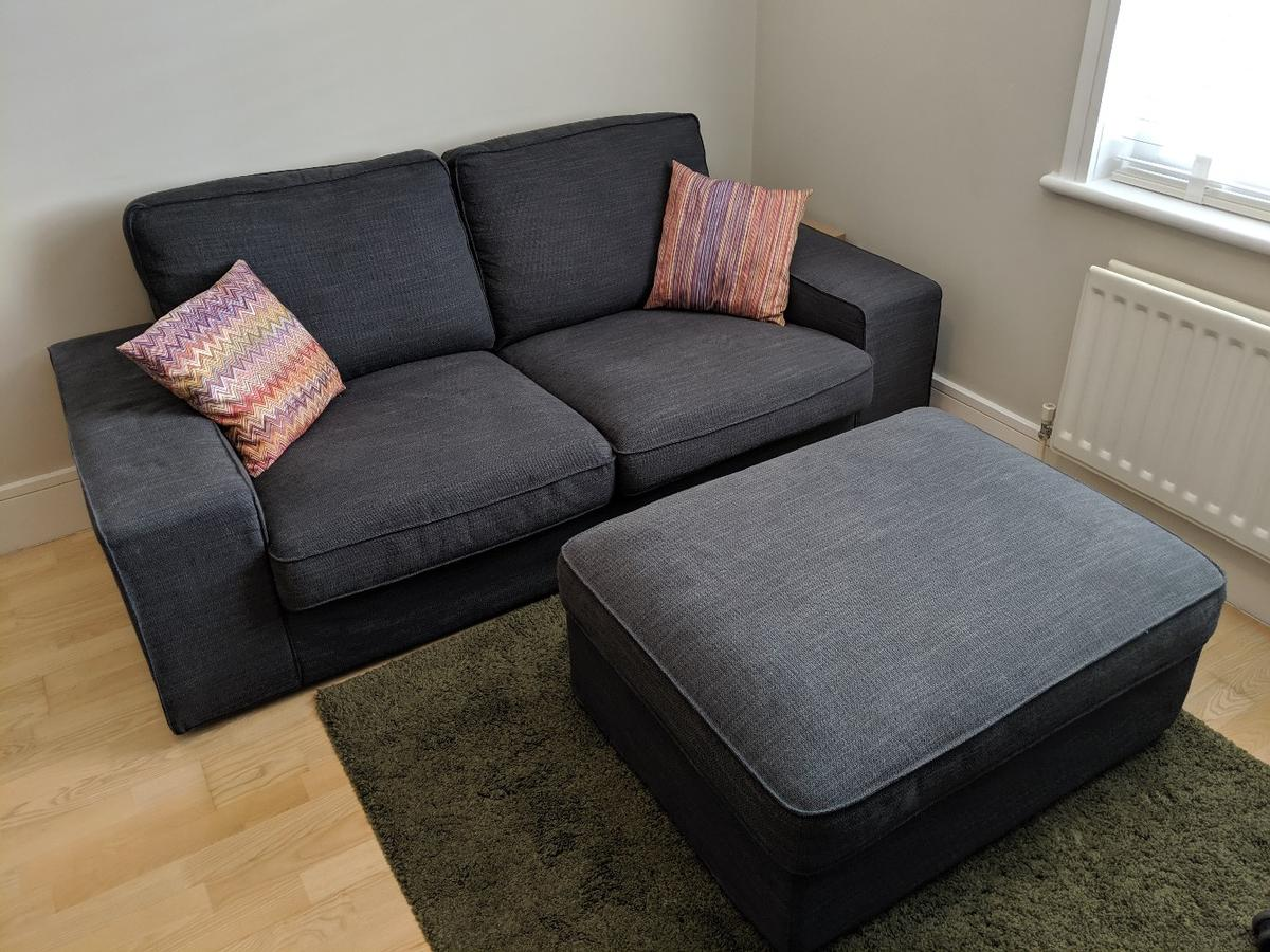 ikea sofa and footstool