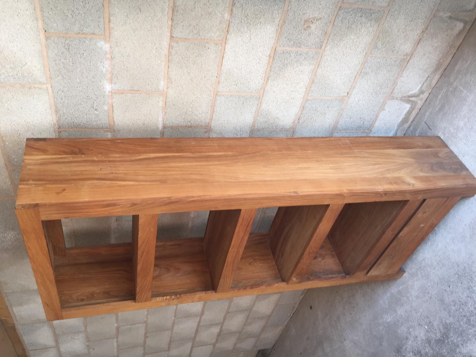 Solid Oak Wood Bookcase 4 Shelf 1 Drawer