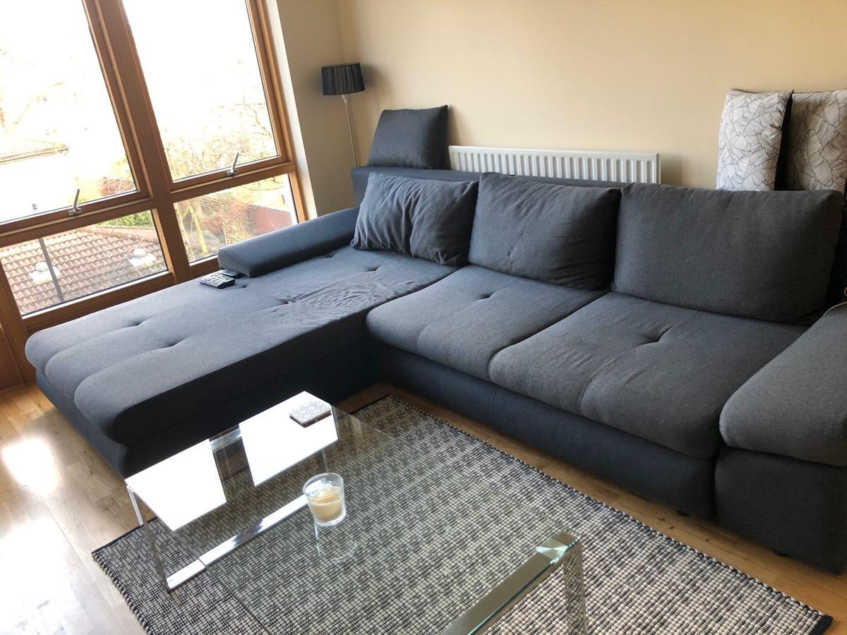 the german made l shaped sofa bed in e9