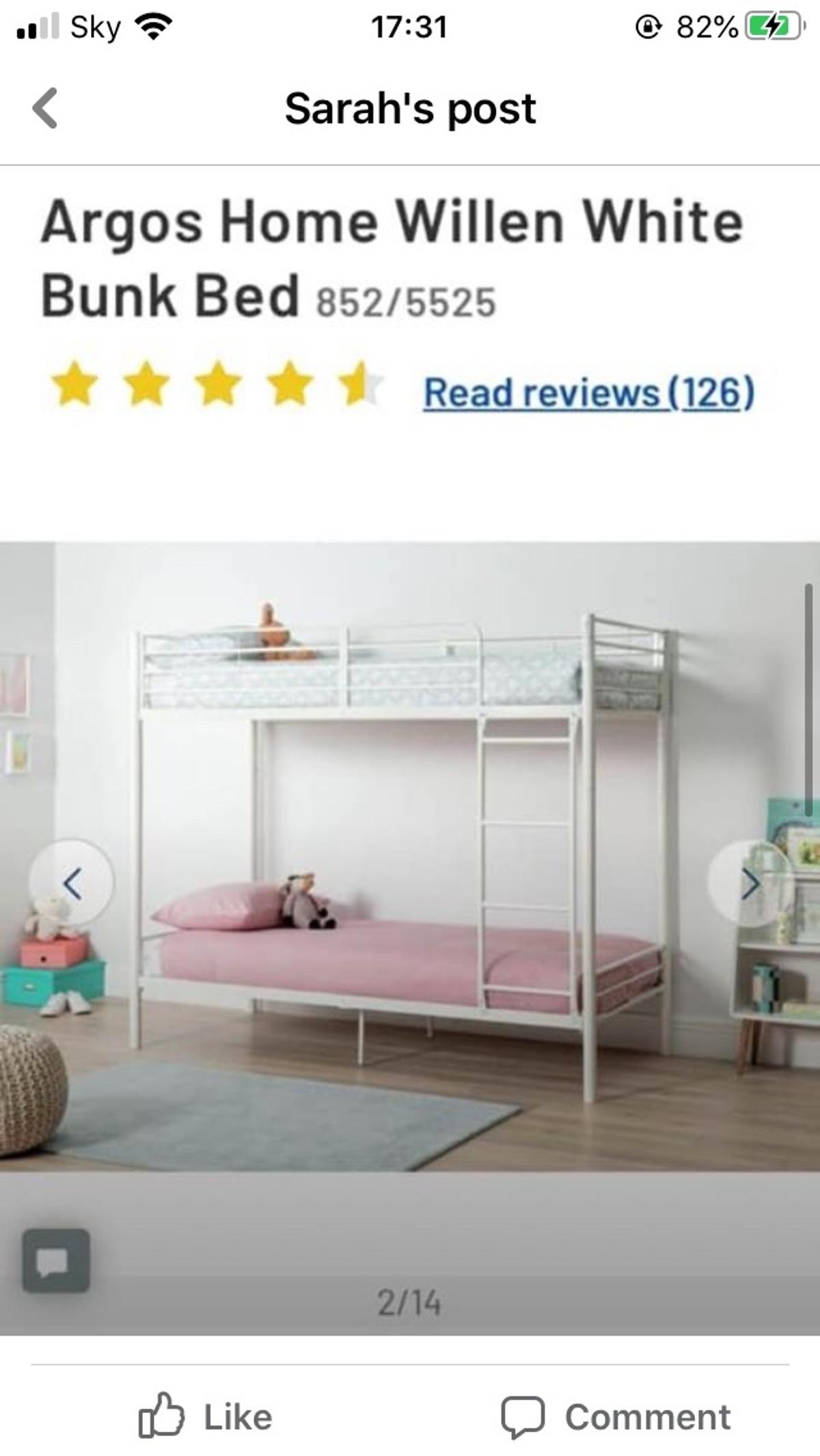 Argos Home Willen White Bunk Bed In Fk7 Stirling For 70 00 For Sale Shpock