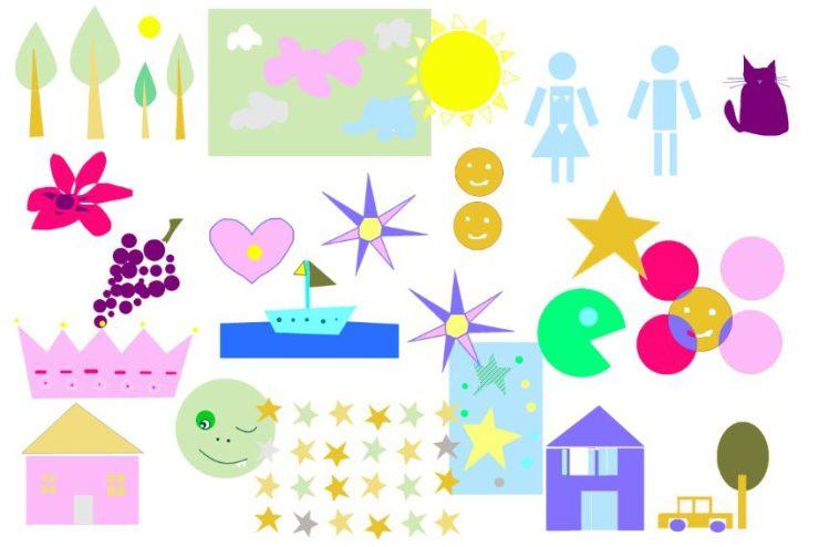 étape3 : ana artiste cree un fond commun sur sa tablette digitale avec tous les dessins du groupe de travail