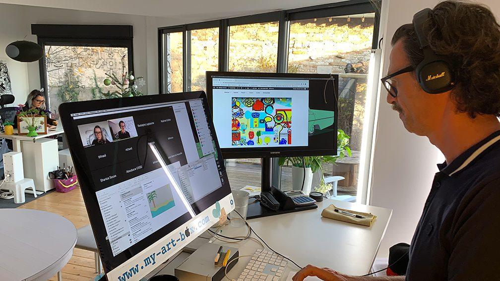 Animation Cohésion à Distance fresque télétravail digitale en télétravail en ligne sur webinaire.games