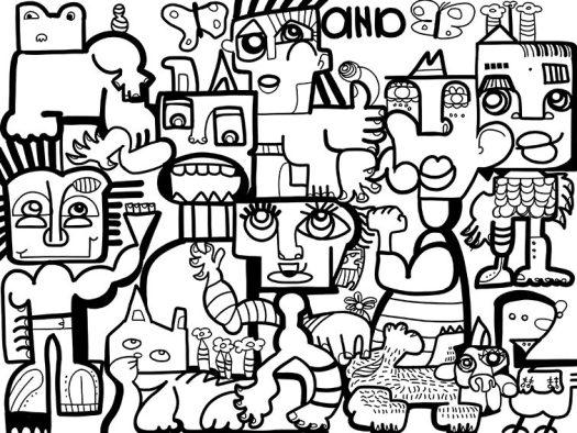 Animation Cohésion Digitale Fresque aNa artiste oeuvre collective en Télétravail