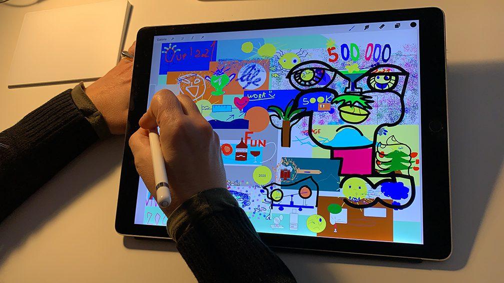 Idée Animation Digitale Fresque Virtuel à distance en Télétravail par Visioconférence par ana artiste art social sur webinaire.games